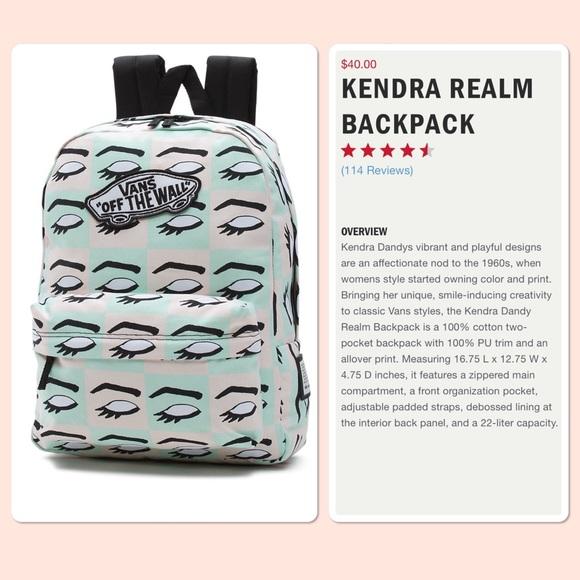 7b80ede387 VANS Kendra Dandy eyes 👀 backpack NWT